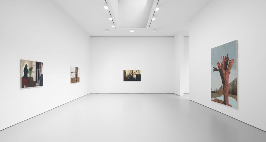 Exhibition view:Mamma Andersson,The Lost Paradise, David Zwirner, 19th Street, New York (4 March–31 July 2020). CourtesyDavid Zwirner.