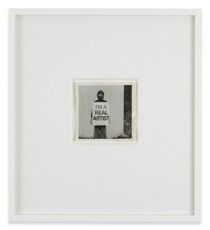 Study, I am a Real Artist by Keith Arnatt contemporary artwork print