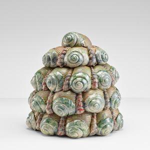 Pot with lid by Wietske Van Leeuwen contemporary artwork