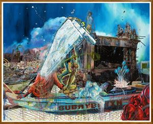 Walk the Talk by Ronson Culibrina contemporary artwork painting, mixed media