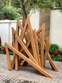 12 Acute Unequal Angles by Bernar Venet contemporary artwork sculpture