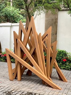 12 Acute Unequal Angles by Bernar Venet contemporary artwork