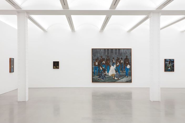 Exhibition view: Cinga Samson, Amadoda Akafani, Afana Ngeentshebe Zodwa (men are different, though they look alike), Perrotin, New York (22 February–11 April 2020). Courtesy the artist and Perrotin. Photo: Guillaume Ziccarelli.