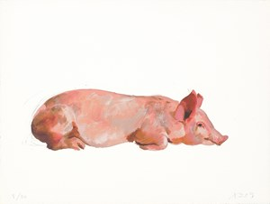 Lying on Its Belly by Liu Xiaodong contemporary artwork