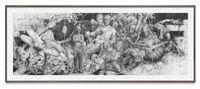 schlagen und bleiben by Jonas Burgert contemporary artwork works on paper, drawing