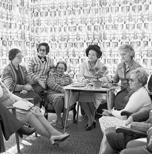 Monthly meeting of the Vroue-Federasie at a members house. June 1980 by David Goldblatt contemporary artwork