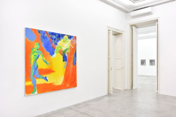 Exhibition view: Group Exhibition, Summer, Almine Rech, Paris (13 June–1 August 2020). Courtesy the Artists and Almine Rech. Photo: ©Rebecca Fanuele
