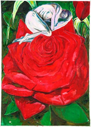 The Scent Of The Rose 玫瑰香 by Fu-sheng Ku contemporary artwork