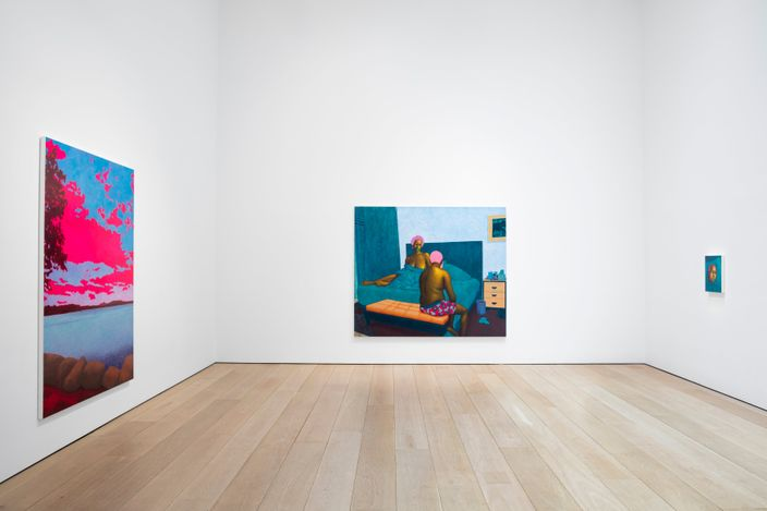 Exhibition view: Arcmanoro Niles, Hey Tomorrow, Do You Have Some Room For Me: Failure Is A Part Of Being Alive, Lehmann Maupin, 501 West 24th Street, New York (3 June–28 August 2021). Courtesy the artist and Lehmann Maupin, New York, Hong Kong, Seoul, and London.Photo: Daniel Kukla.