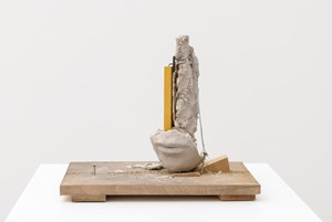 Composition with Yellow Vertical by Mark Manders contemporary artwork