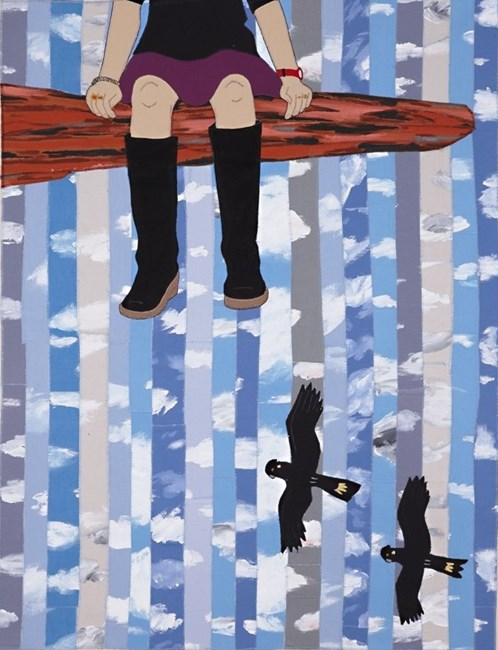 On the Edge by Adrienne Doig contemporary artwork