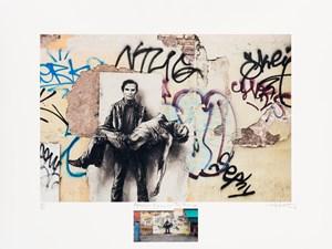 Pasolini, Si je reviens : Testaccio by Ernest Pignon-Ernest contemporary artwork painting