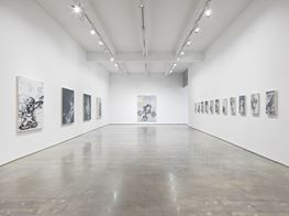 """Gary Simmons<br><em>Screaming into the Ether</em><br><span class=""""oc-gallery"""">Metro Pictures</span>"""