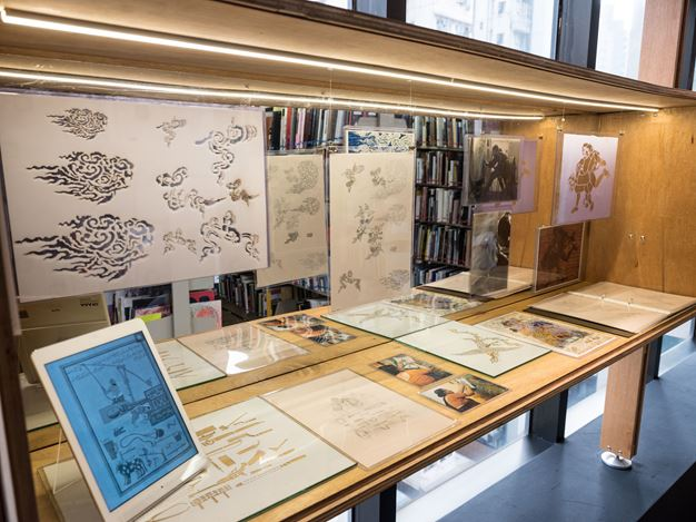 Exhibition view:Nilima Sheikh, Lines of Flight: Nilima Sheikh Archive,Asia Art Archive, Hong Kong (22 March–30 June 2018). Courtesy Asia Art Archive.