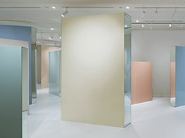 Pastel prisms: Dawn Ng's free-ranging installation at Hermès' Aloft space