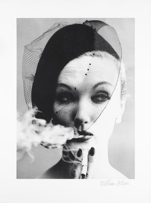 Smoke + Veil, Paris (Vogue) by William Klein contemporary artwork