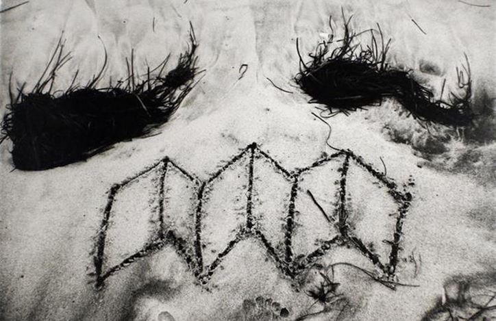 John Wood, Beach Drawing (1983) (detail). Gelatin silver print. Courtesy Bruce Silverstein.