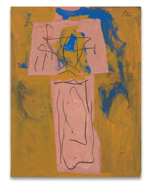 {Totem} Alternative Titles: Zig-Zag; American Totem; American Indian Totem by Robert Motherwell contemporary artwork