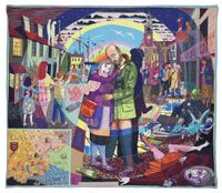 In Its Familiarity Golden by Grayson Perry contemporary artwork textile
