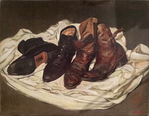 Leather Shoes and Boots by Chen Danqing contemporary artwork