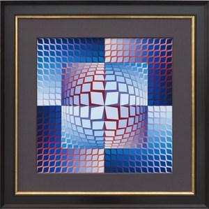 Quasar by Victor Vasarely contemporary artwork