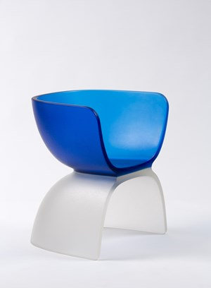 Blue Glass Chair by Marc Newson contemporary artwork