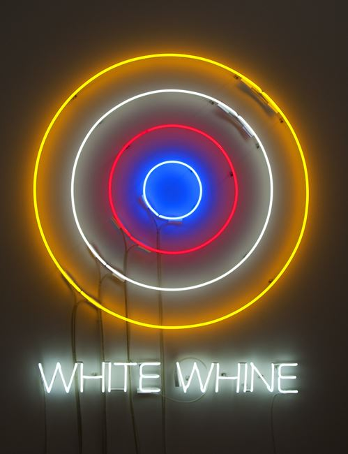 Circle/s in the Round: WHITE WHINE by Newell Harry contemporary artwork