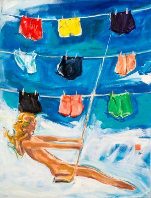 Laundry Day by Fu-sheng Ku contemporary artwork