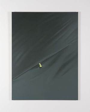 Grey, yellow by Marcel Vidal contemporary artwork painting