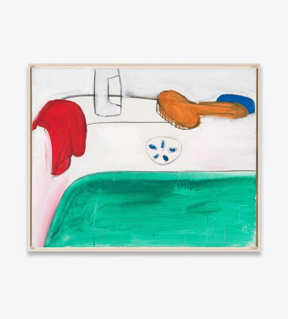 o.T. (Badewanne mit Bürste) by Karl Horst Hödicke contemporary artwork