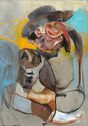 Gauguin with Cowboy Hat by Adrian Ghenie contemporary artwork