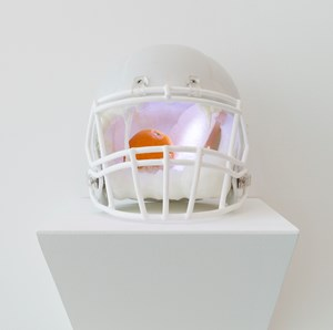 Helmet-freezer (Bread and Orange) by Chihiro Mori contemporary artwork