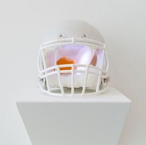 Helmet-freezer (Bread and Orange) by Chihiro Mori contemporary artwork