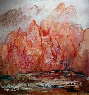 Rocks in the fog by Herve Loilier contemporary artwork