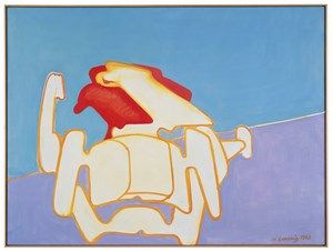 Die Rasende Grossmutter (The Racing Grandmother) by Maria Lassnig contemporary artwork