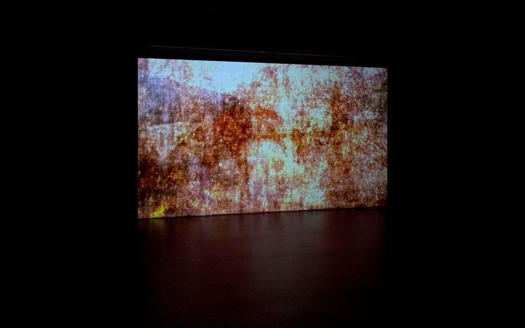 Exhibition view: Takashi Makino, Cinéma Concret, Empty Gallery, Hong Kong (13 December 2016–15 February 2017). Courtesy Empty Gallery. Photo: Michael Yu.