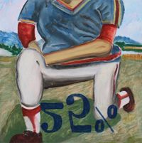 Outfield study 3 by Hiroya Kurata contemporary artwork painting