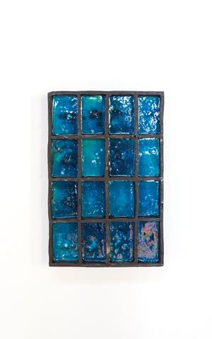 Black-turquoise by Claudia Terstappen contemporary artwork