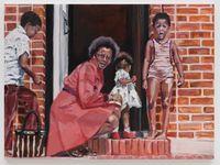 The Expats II (Hampstead Garden Suburb) by Wangari Mathenge contemporary artwork painting