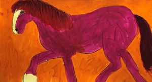 Pink Horse by Walasse Ting contemporary artwork