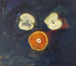 Cut Apple Sliced Orange by Layla Rudneva-Mackay contemporary artwork