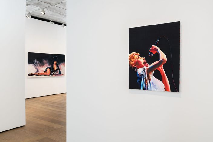 Exhibition view: Sam McKinniss, Country Western, Almine Rech, London (15 April–22 May 2021). Courtesy the Artist and Almine Rech. Photo: Melissa Castro Duarte.