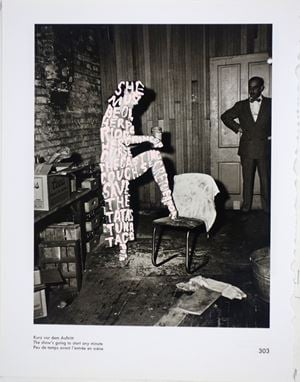 Women Words (Weegee #8) by Betty Tompkins contemporary artwork