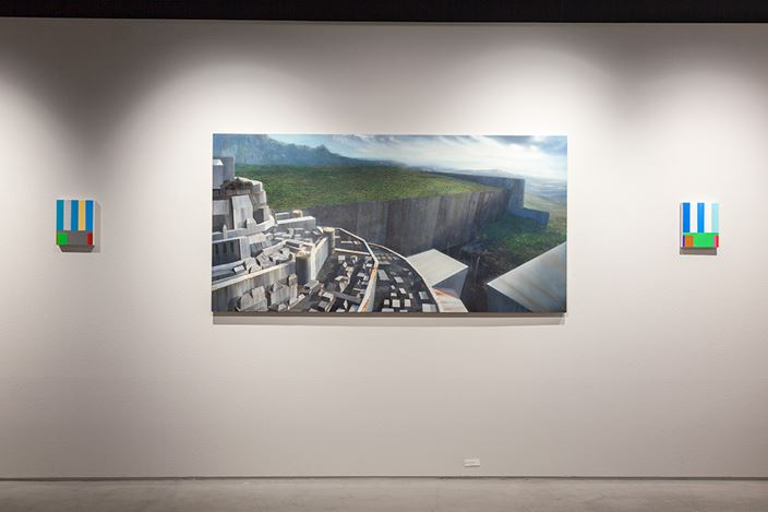 Exhibition view:Naoya Inose, Blue, THE CLUB, Tokyo (1-30 December 2018). Courtesy THE CLUB.