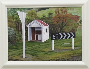 Approaching Akaroa by Dick Frizzell contemporary artwork