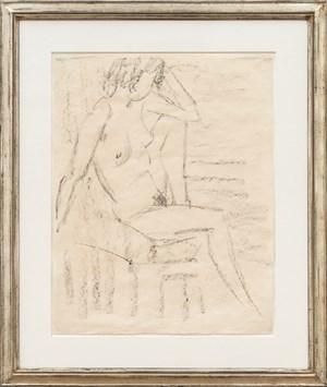 Sitzender weiblicher Akt by Otto Mueller contemporary artwork