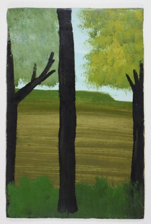 Trunk between Two Trees by Frank Walter contemporary artwork