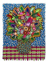 Memphis Bouquet by Jody Paulsen contemporary artwork textile