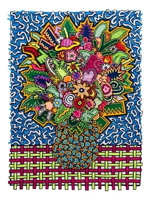 Memphis Bouquet by Jody Paulsen contemporary artwork