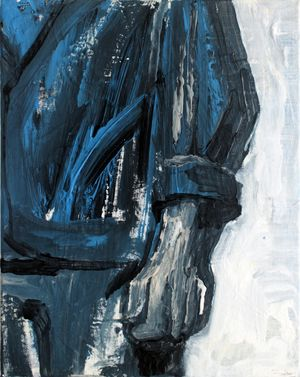 A Young Man Who Turned into a Statue by Hye-Young Kim contemporary artwork painting